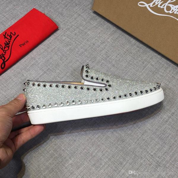 8cristianoLouboutindonne di marca CL nuova qualità superiore di lusso Scarpe Uomo Casual genuini 457
