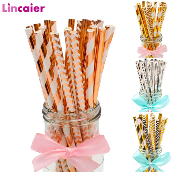 25Pcs Paper Drinking Straws Birthday Party Decoration Boy Girl DIY Wedding Bachelorette Hen Party Bride to be Bridal Shower