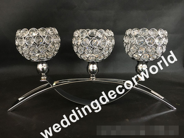 New Style Glass 3 Arms Metal Candelabras With Crystal Pendants Wedding Candle Holder Centerpiece Party Decor Decor50 Casino Party Decorations Casino