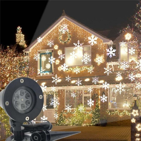 Led Christmas Light Outdoor Waterproof Snowflake Lamp Projector Lighting For Lawn Stage Garden Decorations Eu Us Uk Au Plug German Christmas Ornaments