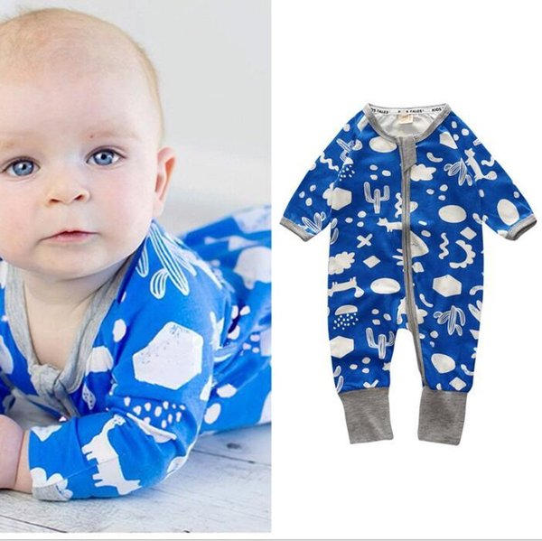 Autunno Inverno Baby Boy Girl pagliaccetto vestiti Natale neonato neonato stampa floreale cotone tuta in pile bambino vestiti del bambino