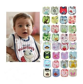 2017 coton bébé bavoir infantile salive serviettes bavoirs bavette chiffons bébé bavoir imperméable styles livraison aléatoire alimentation de bébé porter au détail