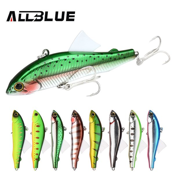 ALLBLUE 2018 New SICKLE VIB 80S Sinking Vibration Fishing Lure Hard Plastic Artificial Bait Winter Ice Fishing Trout Tackle Y18101002