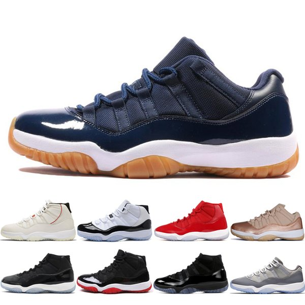 Platinum Tint High Concord 45 11s Mens Basketball Shoes 11 women Prom Night Legend Blue Bred Cap and Gown Sports Sneakers Trainers US 5.5-13
