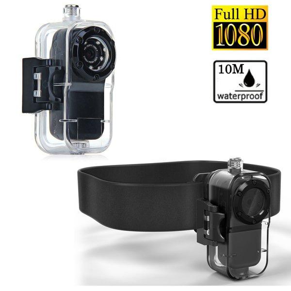 1080p Full HD étanche mini caméra enregistreur d'action de sport avec boîtier résistant à l'eau ceinture de caméra mini vidéo secret 30fps Camara