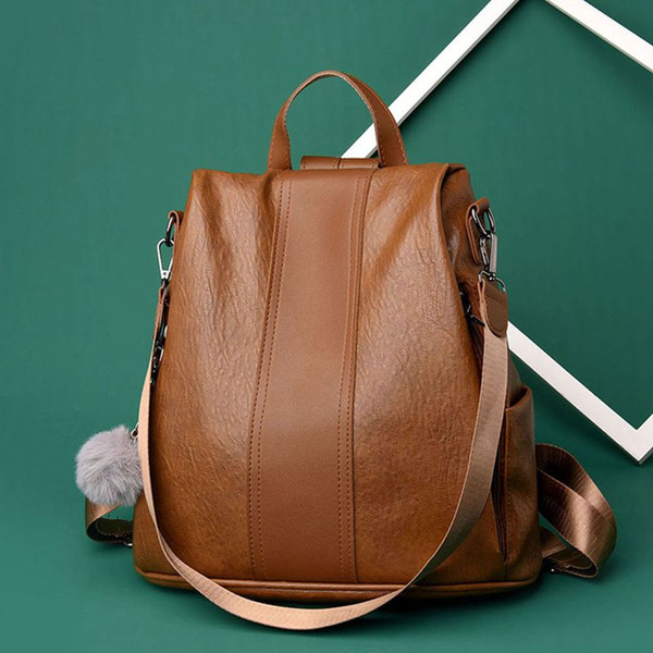 Backpack Women Girls Casual Fashion Shoulder School Bag PU Leather Travel Backpack Book Bag /BY