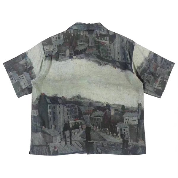 2019 Latest UNUSED Van Gogh Museum Tee Shirt Color Matching House Summer Beach T Shirt Fashion Street Holiday Clothing Outwear Jacket HFYMTX594 From