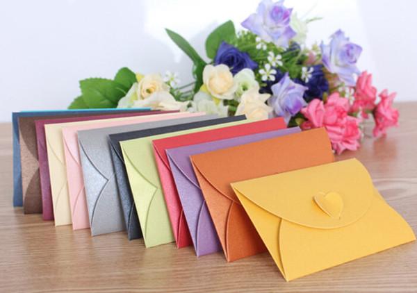 2019 Vintage Love small colored Pearlescent paper blank mini paper envelopes wedding invitation envelope /gilt envelope