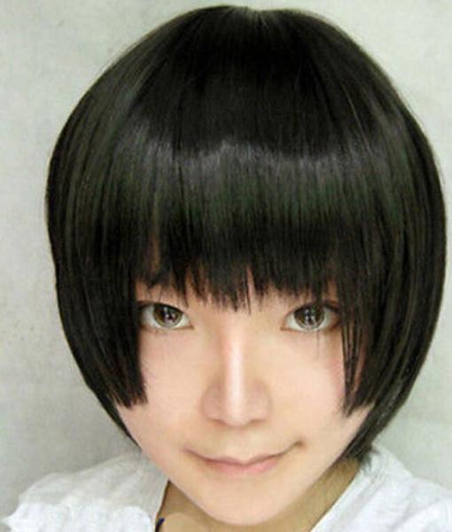 WIG Free Shipping Details about Axis Powers Hetalia APH Japan Honda Kiku Short Black Cosplay Hair Full Wig