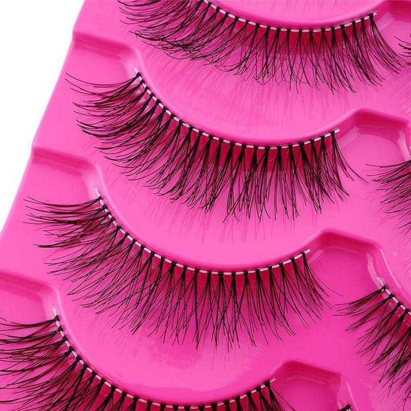 5pair Soft Hair Makeup Long Thick False Eyelashes Extension Hand Made Makeup Lashes Set Natural False Eyelash Set