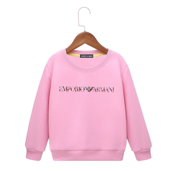 kids hoodies 2019 Autumn And Winter Long Sleeves Children's Clothes Sweater Thin Hair Circle Pure Cotton Wind Bottoming colors