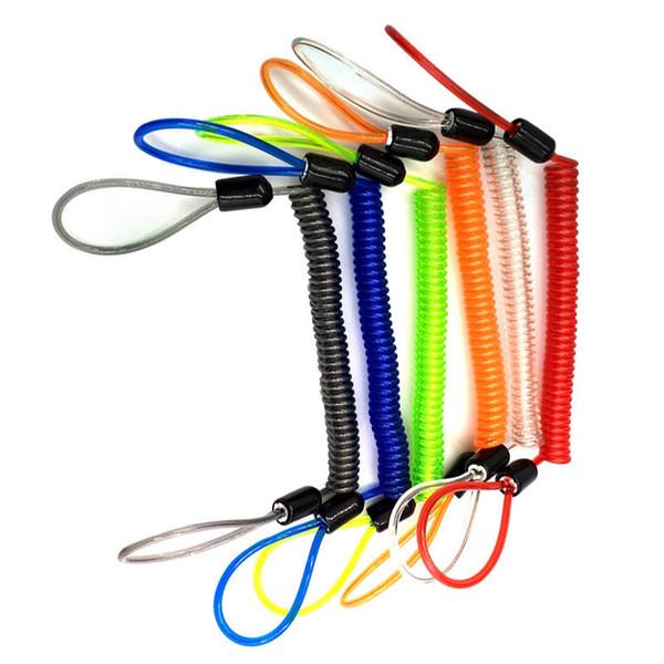 2pcs alarma Disco cable de 1,5 m 1,2 m bloqueo antirrobo primavera Recordatorio Alerta cuerda cuerdas cuerda de seguridad para casco de ciclista freno de la motocicleta