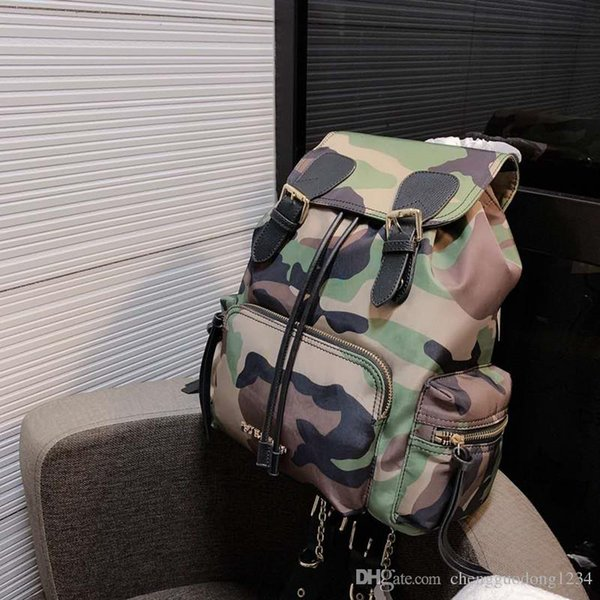 Waterproof Nylon With Leather Material New Men S College Laptop Unisex Mummy Bag Leisure Shoulders Female Military For Girls Backpacks