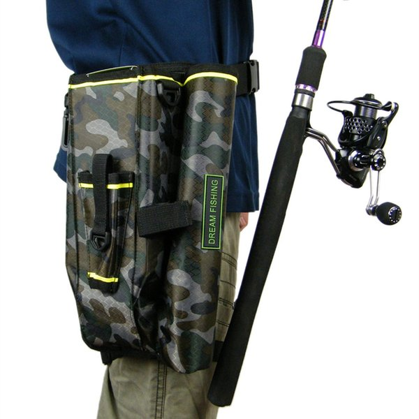 19x6x33cm Fishing Tackle Bags Camouflage Camo Multifunction Waist Leg Fly Fishing Rod Bag Nylon Waist Leg Bag Tool #562765