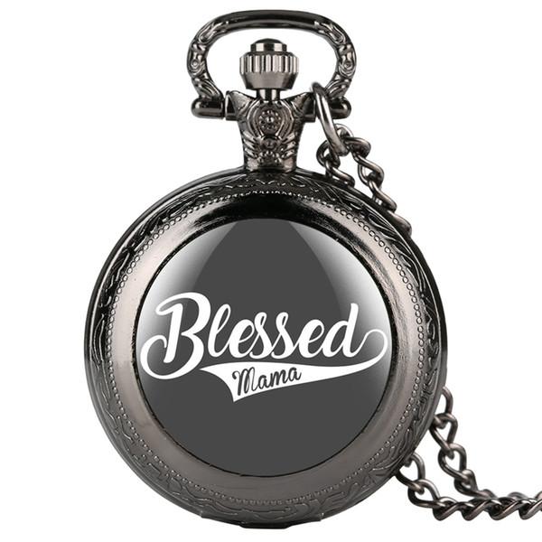 Classic White Dial pendentif montre unique série béni Mama Montres de poche moyenne pour les dames maillons chaîne de montre rétro