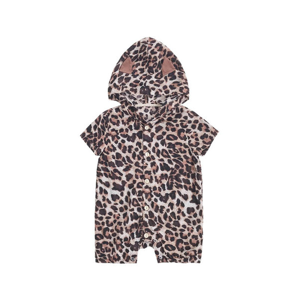 Ins leopard baby romper Summer new baby clothes Newborn romper Infant Jumpsuit newborn baby boy clothes boys clothing girls clothes A4778