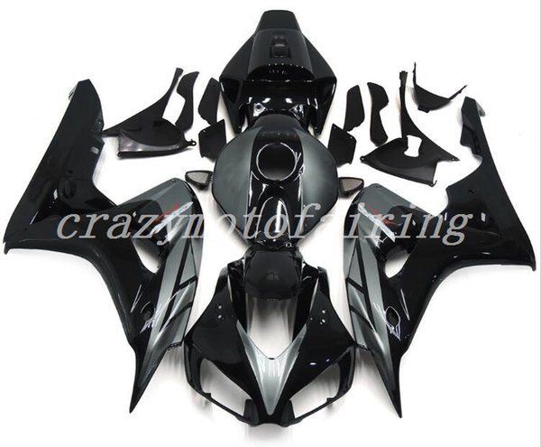 4 gifts new abs injection mold motorcycle fairings kits 100% fit for honda cbr1000rr 06 07 2006 2007 fairings bodywork set nice silver black - from $369.80