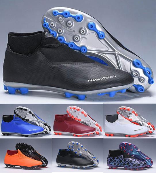 Discount Soccer Boots Wholesale Phantom VSN Elite DF AG FG Football Shoes Cheap Outdoor Phantom Vision AG Soccer Cleats Big Order For Sale