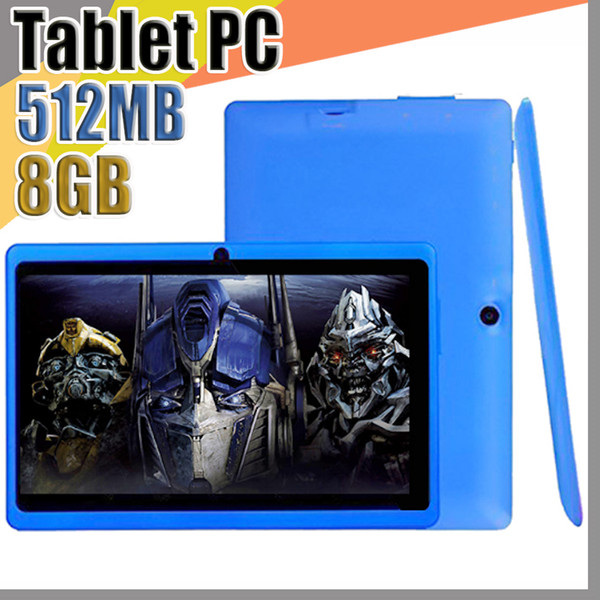 best selling JT Cheap 7inch Q88 Dual camera A33 Quad Core Tablet PC Android 4.4 OS Wifi 8GB 512M RAM Multi Touch Capacitive Bluetooth Tablet A-7PB