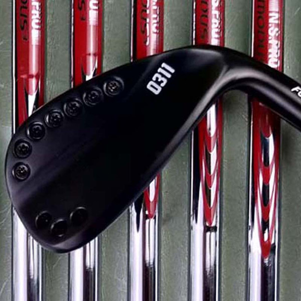 golf irons 0311 black irons 3-9 W 8 pieces graphite shaft or steel shaft with rod cover free shipping