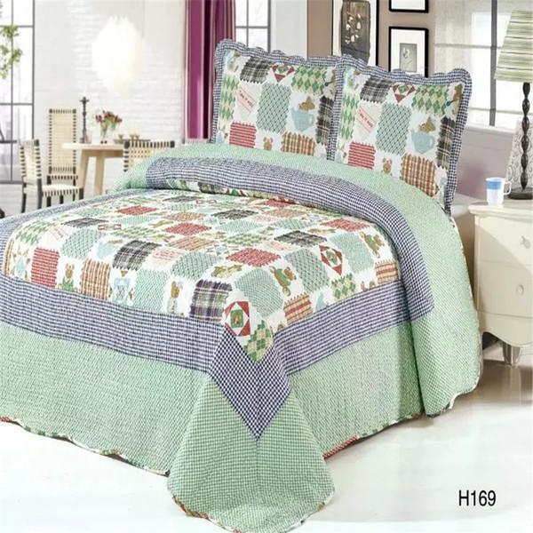 100%Cotton Queen Bedspread Bed Cover Pillowcase Bed spread Sofa cover Blanket Quilt couvre lit colchas couette dessus de lit