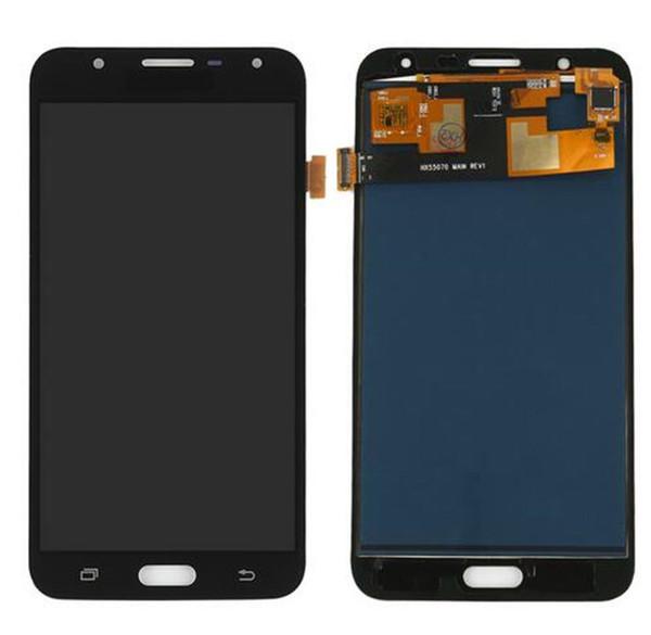Ayarlanabilir parlaklık TFT Kalite Samsung Galaxy Için J7 neo J701 J701F Ekran Dokunmatik Ekran Digitizer Meclisi LCD Değiştirme