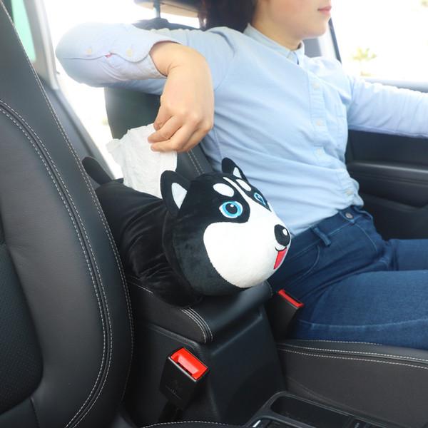 Criativo Dos Desenhos Animados Carro Braço Caixa De Tecido Multi-uso Lavável Assento de Carro de Volta Pendurado Tipo Sombra Bloco Titular de Papel Auto Acessórios
