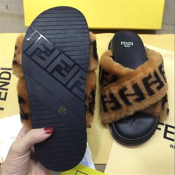 Kış Harf F Terlik Kadınlar Marka Woll Tasarımcı Sandalet Kişilik Çapraz Tasarım Lady Moda Pamuk Fragmanı Güz