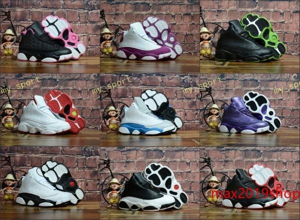 new children jumpman 13 xiii 13s bred rd dmp black cat kids boys youth kids basketball shoes sneakers 13 13s sport 23 trainers shoes