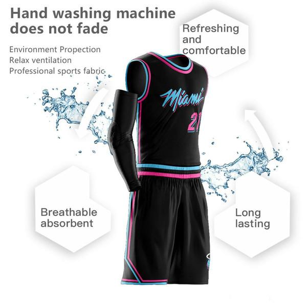 Custom Men Youth Hassan Whiteside Camisetas de baloncesto Juegos de uniformes Ropa deportiva para adultos Ropa de baloncesto transpirable pantalones cortos conjuntos de bricolaje