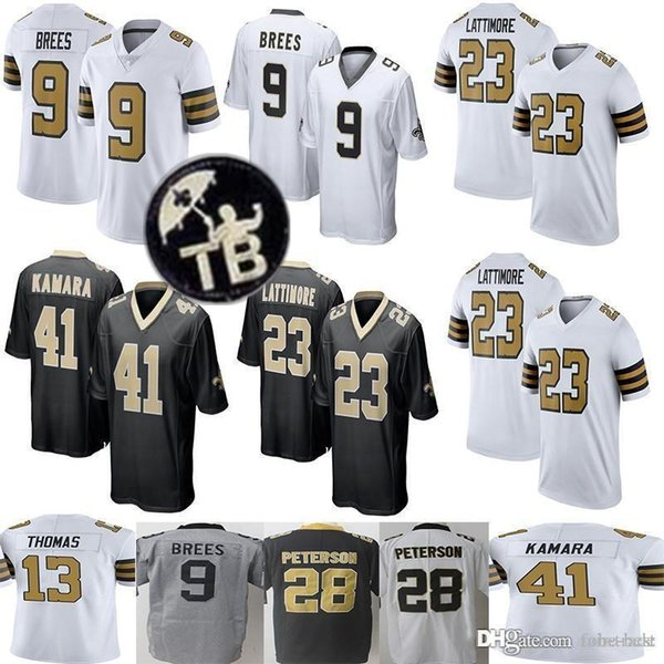 2019 7 Taysom Hill New Orleans Saints 9 Drew Brees Jersey 41 Alvin Kamara 13 Michael Thomas 23 Marshon Lattimore 28 Adrian Peterson 88 Dez Bryant From