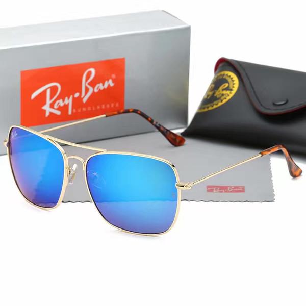 Markendesigner-Sonnenbrille-Qualitäts-Metallscharnier-Sonnenbrille-Mann-Gläser-Frauen-Sonnenbrille UV400 Objektiv Unisex mit ursprünglichen Fällen und Kasten
