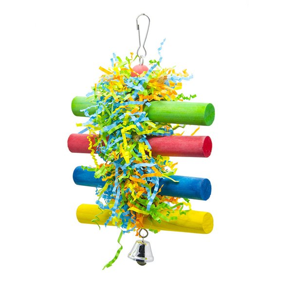 Parrot Toys Bird Toys Wire Drawing Papyrus Silk Toys To Climb Bar Biting Tearing Hanging String And Biting String