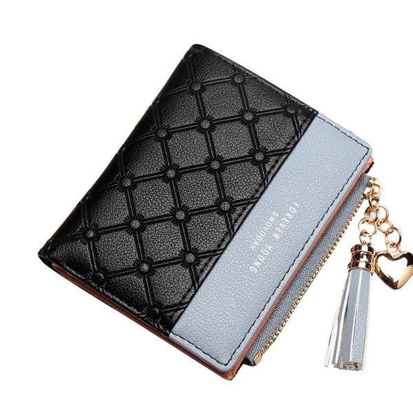 Mode frauen Brieftasche Geprägte Kunstleder Quaste Leder Telefon Karte Geldbörse Karte Münzen Halter Kurze Brieftaschen Weibliche Clutch