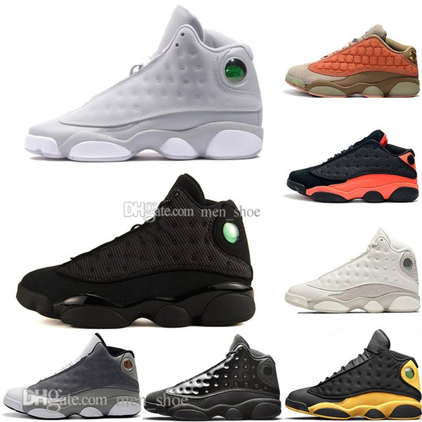 Hot 13 13s Cap And Gown Terracotta Blush Mens Basketball Shoes Chicago Cat Black Infrared Flints Bred Men Sports Sneakers Designer US 5.5-13