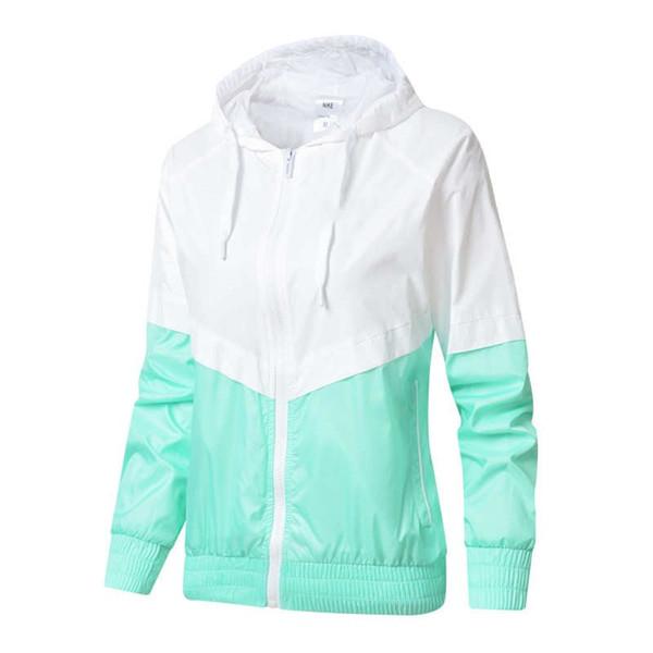 Women Windbreaker Designer Jackets Female Hoodie Zipper Fashion Hooded Jackets Coat Outdoor Sport Letter Plus Size L-2XL