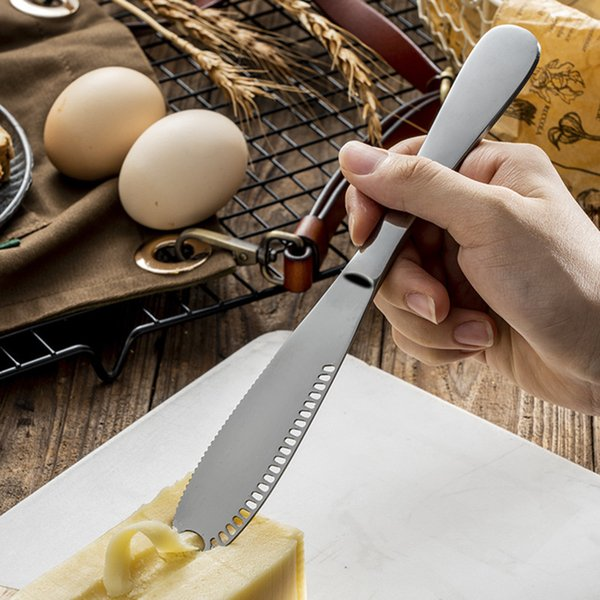 best selling Stainless steel multifunctional cheese knife jam pasting tool mirror finished cheese slicer butter knife kitchen knife