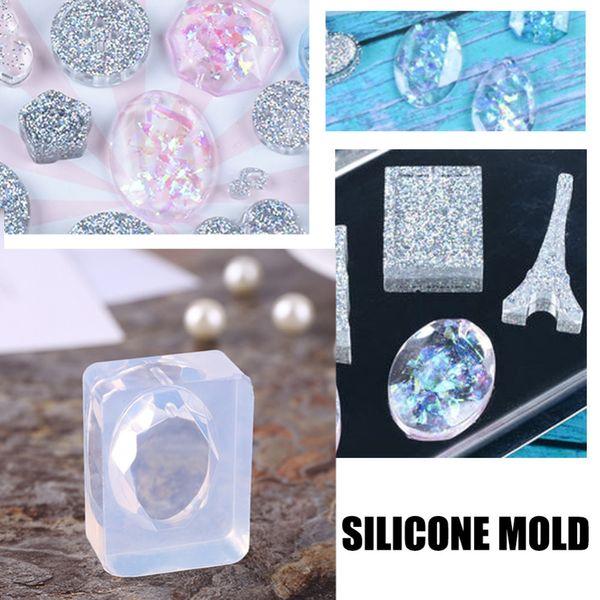 Moule en silicone 3D pour bricolage Nail Art Charms Bijoux Pendentif Artisanat Fabrication Décorations Modèles Modèles