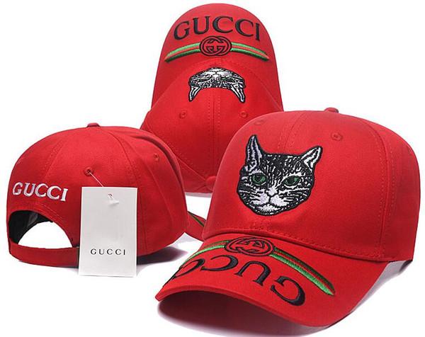 Klasik Işlemeli Kedi Ayarlanabilir Beyzbol Şapkaları Caps Ucuz Golf Topu Kapaklar Erkekler La Şapka Kemik Polo Şapka Otantik Yapış sırt Casquettes