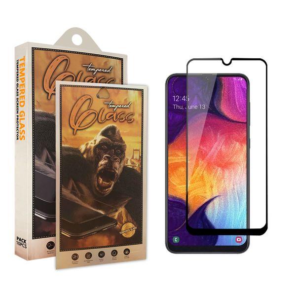 Full Cover gehärtetes Glas für Samsung A10E A20E A50 A70 Moto E5 Play G7 Power Displayschutzfolie für LG Stylo5 mit Kleinpaket