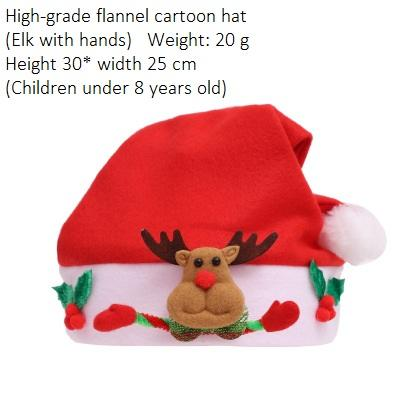 Child Flannel Elk with hand