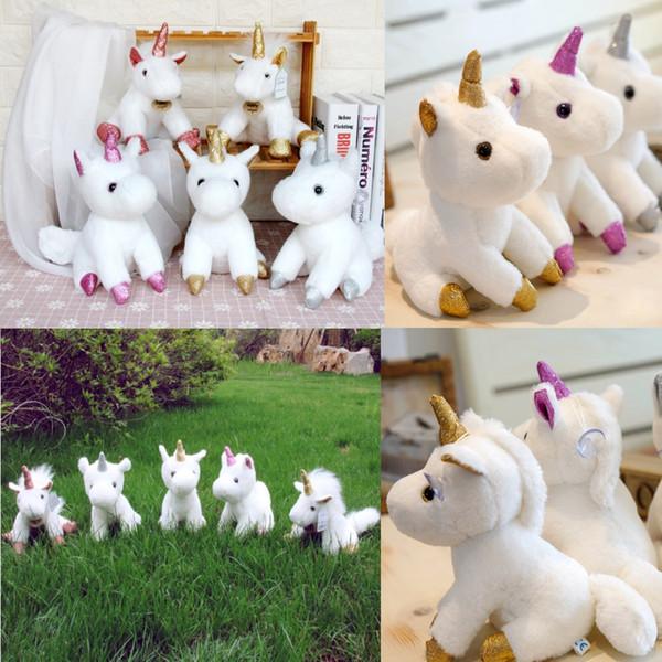 Sevimli Unicorn peluş oyuncaklar Yumuşak Unicorn Dolması oyuncak unicorn Peluş Bebek kolye ile çocuk için brithday Noel hediyesi
