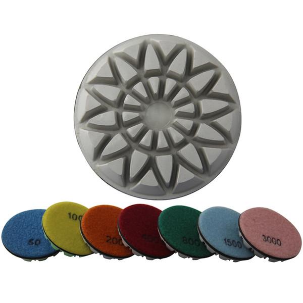 "1500 Grit 6pcs 3"" Dry Diamond Polishing Pad for Concrete Floor"