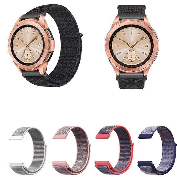 Bande pour Galaxy Watch 42mm Montre Galaxy Active Gear Vitesse Sport S2 Classique, Bandes Smartwatch en Nylon à libération rapide de 20 mm