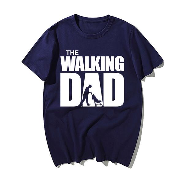 The Walking Dad Warm Father'S Day Gift T Shirt Casual Men Summer 100% Cotton Short Sleeve Print Tshirts Men'S Tops Sweatshirt
