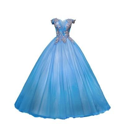 Compre Azul Abalorios Rococó Drama Escenario Hada Vestido De Gala Vestido Medieval De Dibujos Animados Princesa Medieval Renacimiento Vestido Reina
