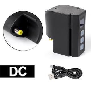 Battery only/DC connection