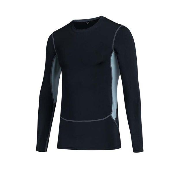 New Sports Fitness Men Running Jogging Elastic Quick-drying Long Sleeve T-Shirt Men Pro Tight Training Shirt Tops Tees