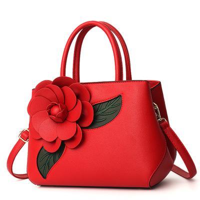 Women's bag new hot Europe and America casual big bag fashion wild handbag tide rose shoulder Messenger bag