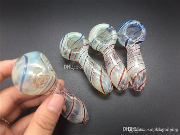 Pas cher Pyrex fumeurs verre Pipes en verre soufflé à la bouche du tabac Pipes cuillère Mini petit bol Tuyau unique Pot Pipes Pièces fumeurs